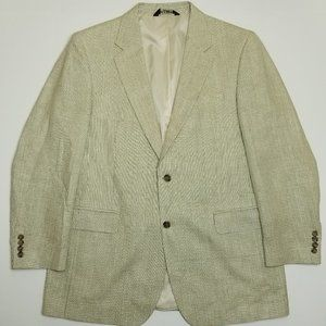 Jos A Bank Silk Suit Jacket - 2 Buttoned Notch - I